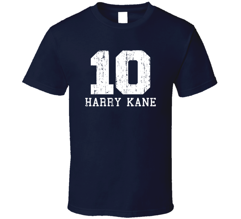 Harry Kane #10 Tottenham Football Fan Worn Look Sports T Shirt