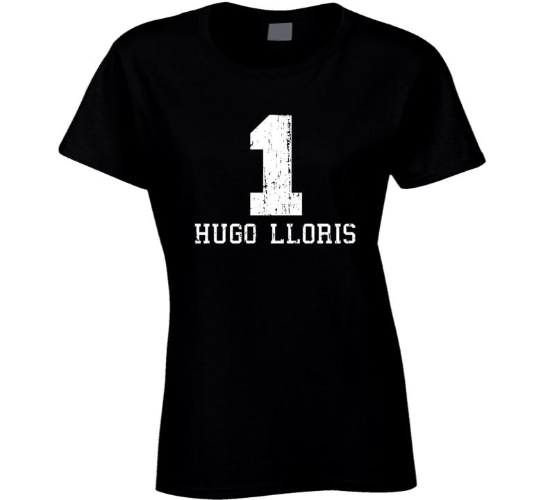 Hugo Lloris #1 Tottenham Football Fan Worn Look Sports Ladies T Shirt