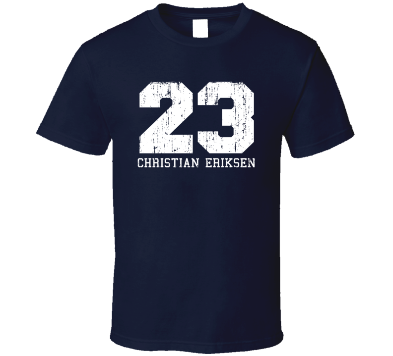 Christian Eriksen #23 Tottenham Football Fan Worn Look Sports T Shirt