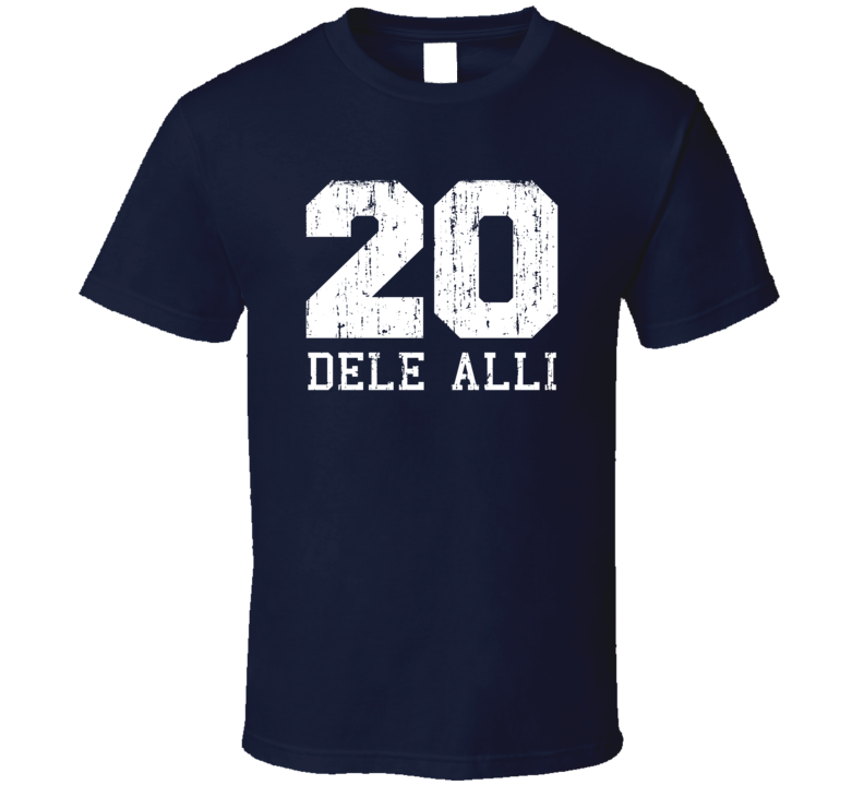 Dele Alli #20 Tottenham Football Fan Worn Look Sports T Shirt