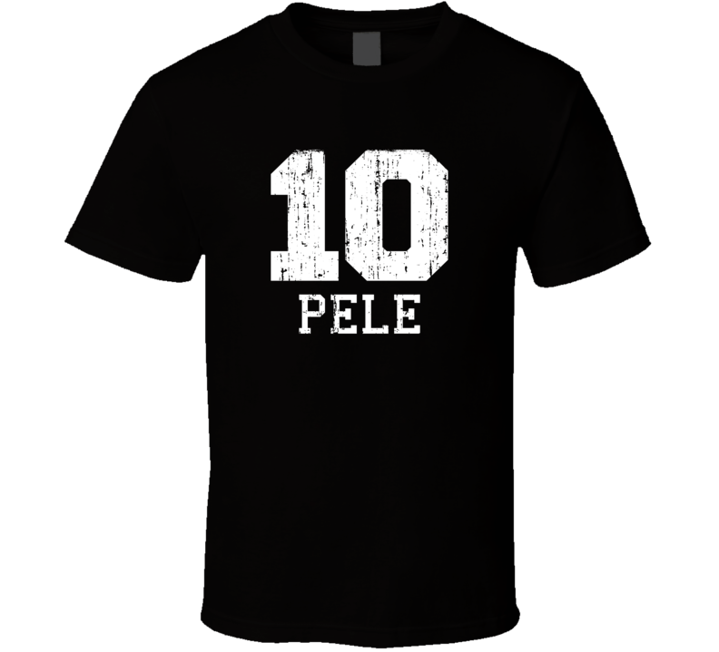 Pele #10 Brazil Football Legend Worn Look Sports T Shirt