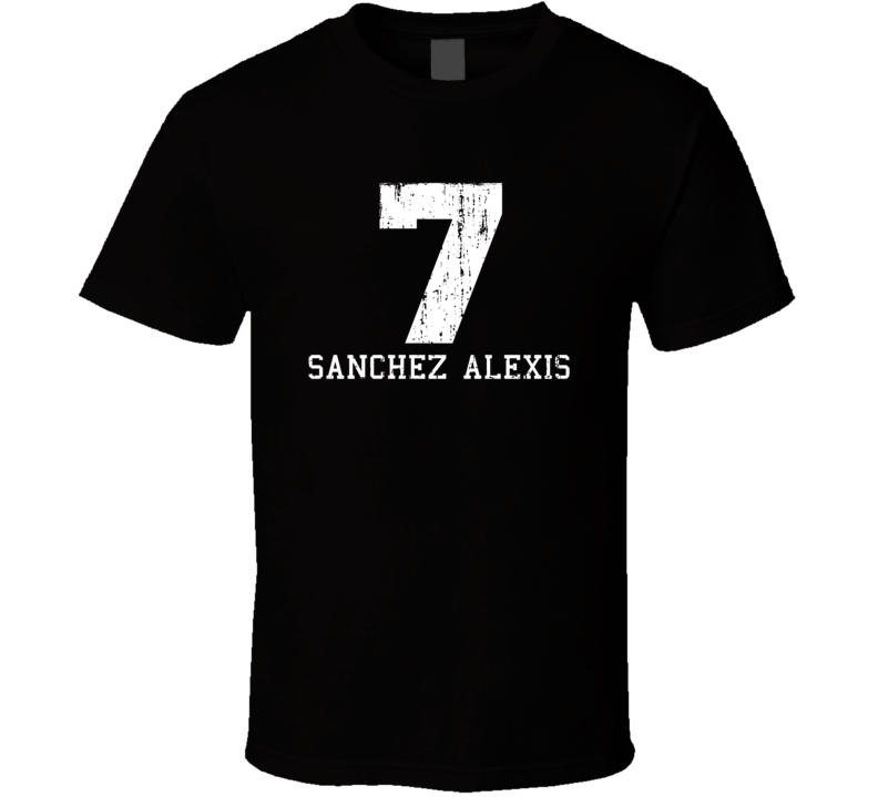 Sanchez Alexis #7 Aresenal Football Fan Worn Look Sports T Shirt