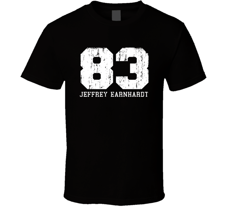 Jeffrey Earnhardt No.83 Nascar Driver Fan Worn Look Sports T Shirt