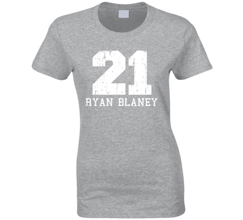 Ryan Blaney No.21 Nascar Driver Fan Worn Look Sports Ladies T Shirt