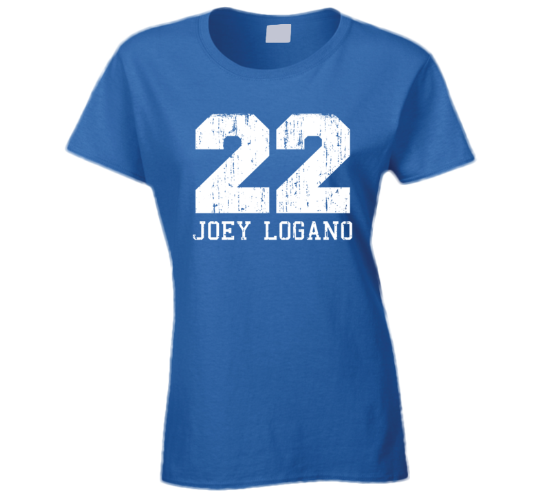 Joey Logano No.22 Nascar Driver Fan Worn Look Sports Ladies T Shirt