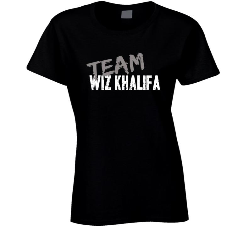 Team Wiz Khalifa Rap Music Artist Worn Look Celebrity Ladies T Shirt