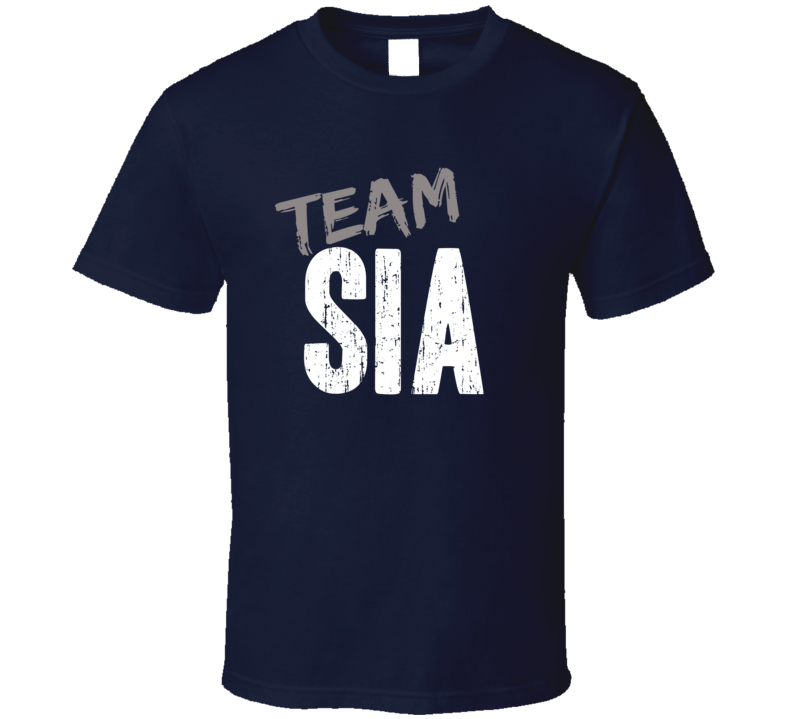 Team Sia Top Pop Music Artist Worn Look Celebrity Cool T Shirt