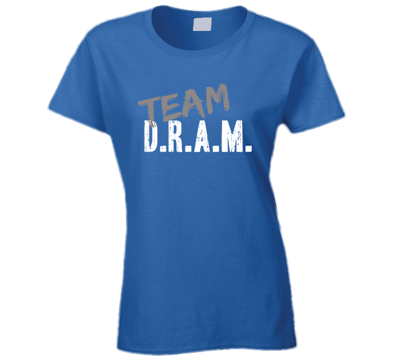 Team D.R.A.M. Top Rap Music Artist Worn Look Celebrity Ladies T Shirt