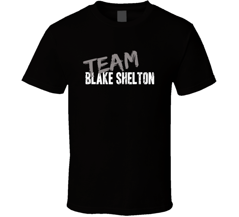 Team Blake Shelton Top Country Music Artist Worn Look Cool T Shirt