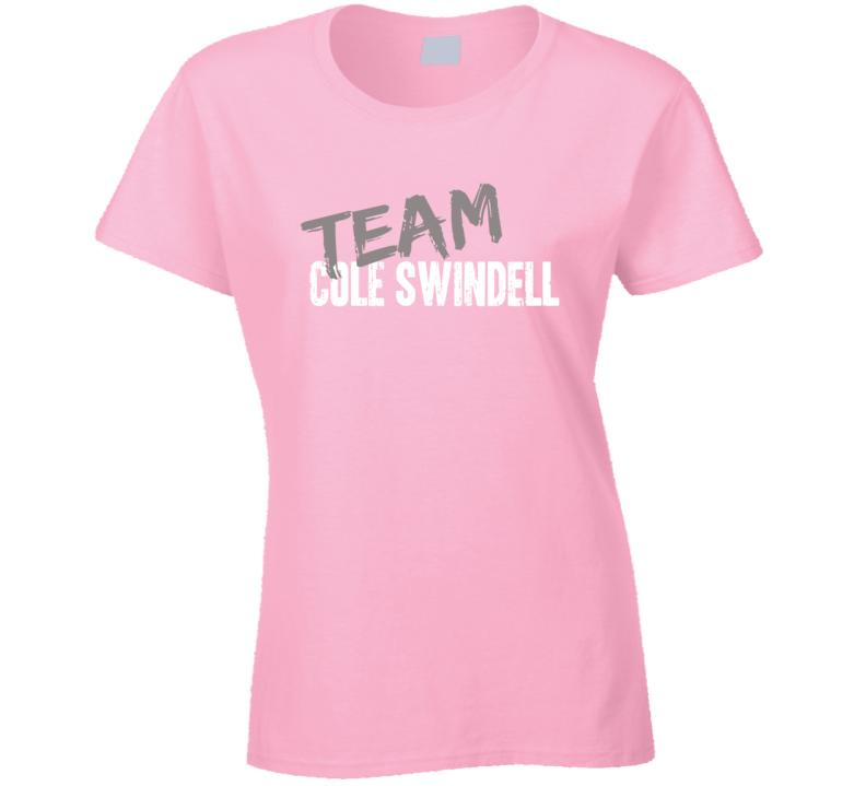 Team Cole Swindell Top Country Music Artist Worn Look Ladies T Shirt