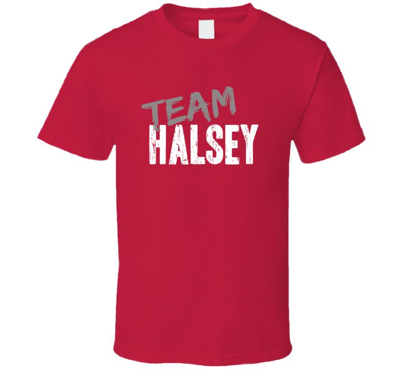 Team Halsey Top Electro pop Music Artist Worn Look Celebrity T Shirt