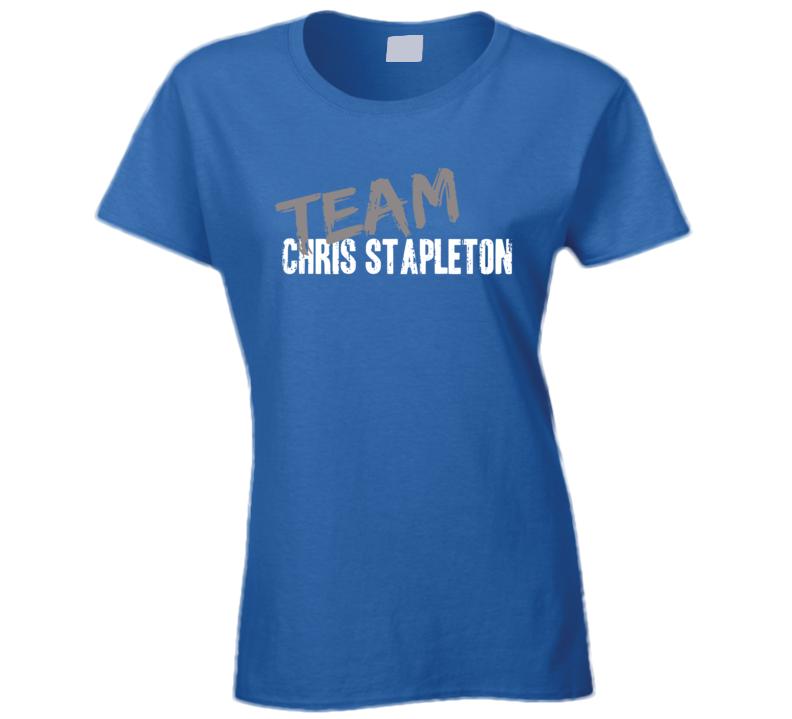 Team Chris Stapleton Top Country Music Artist Worn Look Ladies T Shirt