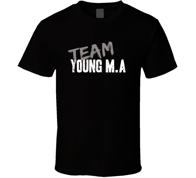 Team Young M.A Top Rap Music Artist Worn Look Celebrity Cool T Shirt