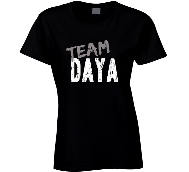 Team Daya Top Pop Music Artist Worn Look Celebrity Cool Ladies T Shirt