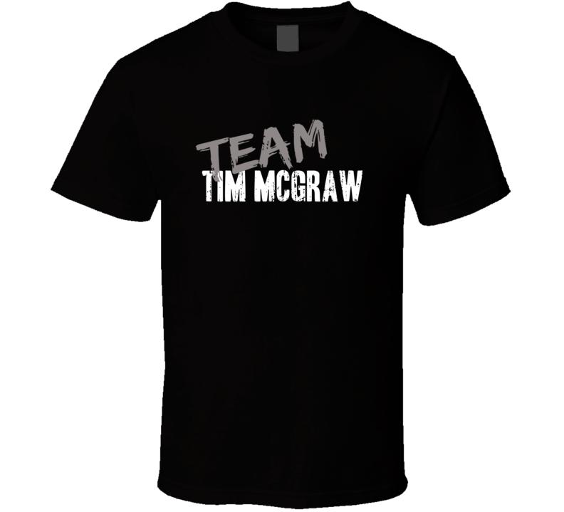 Team Tim McGraw Top Country Music Artist Worn Look Celebrity T Shirt