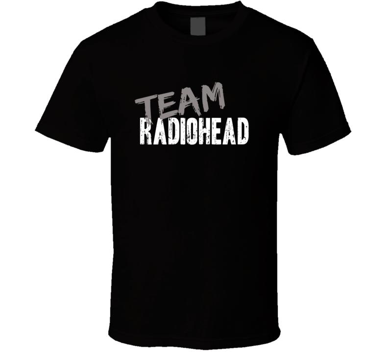 Team Radiohead Top Rock Music Artist Worn Look Celebrity Cool T Shirt