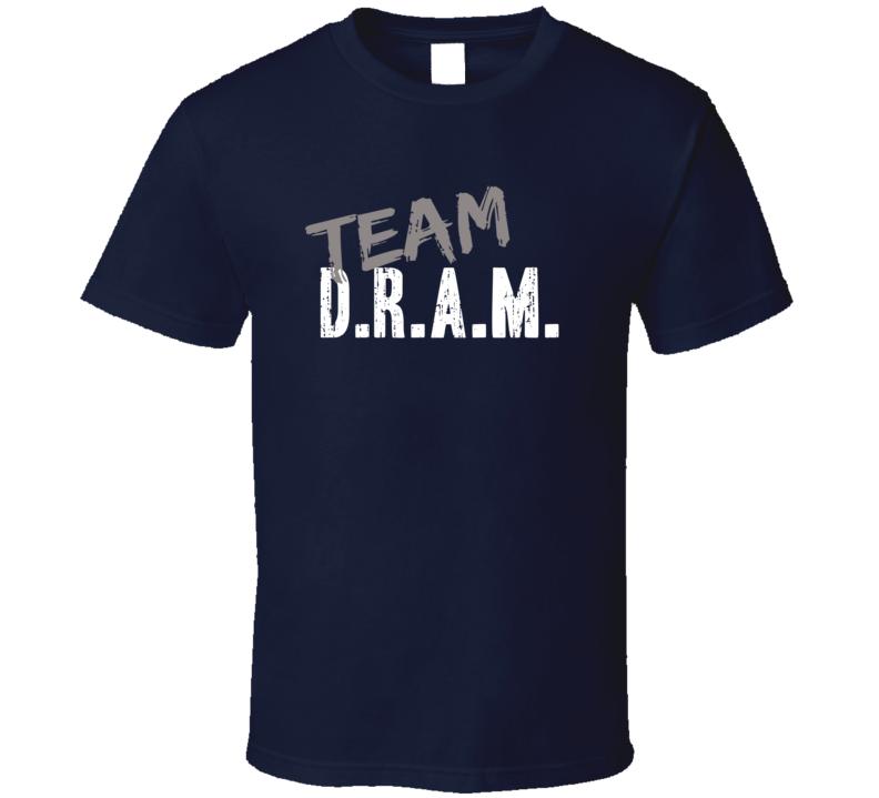 Team D.R.A.M. Top Hip Hop Music Artist Worn Look Celebrity T Shirt