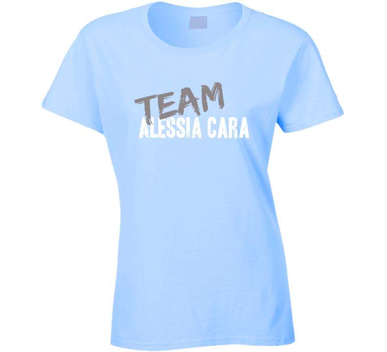 Team Alessia Cara Pop Music Artist Worn Look Celebrity Ladies T Shirt