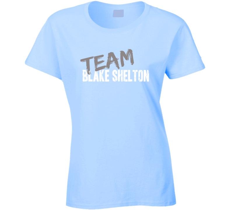 Team Blake Shelton Top Country Music Artist Worn Look Ladies T Shirt