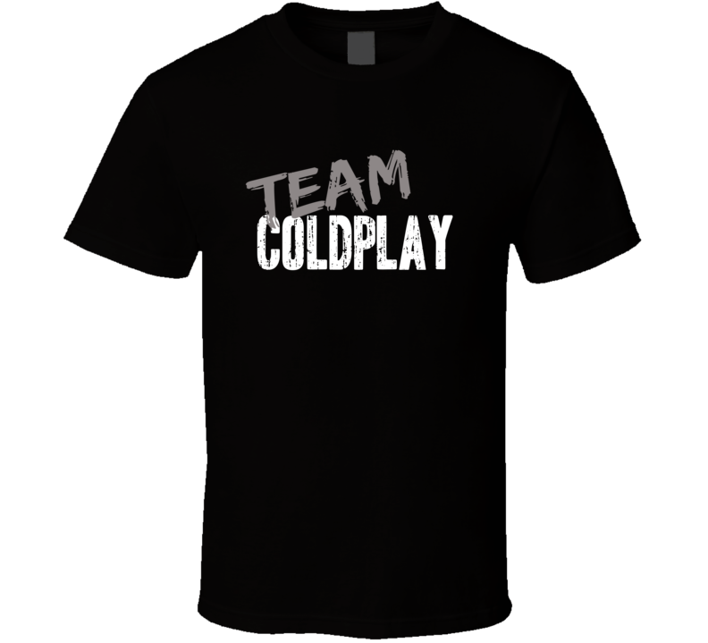 Team Coldplay Top Rock Music Artist Worn Look Celebrity Cool T Shirt