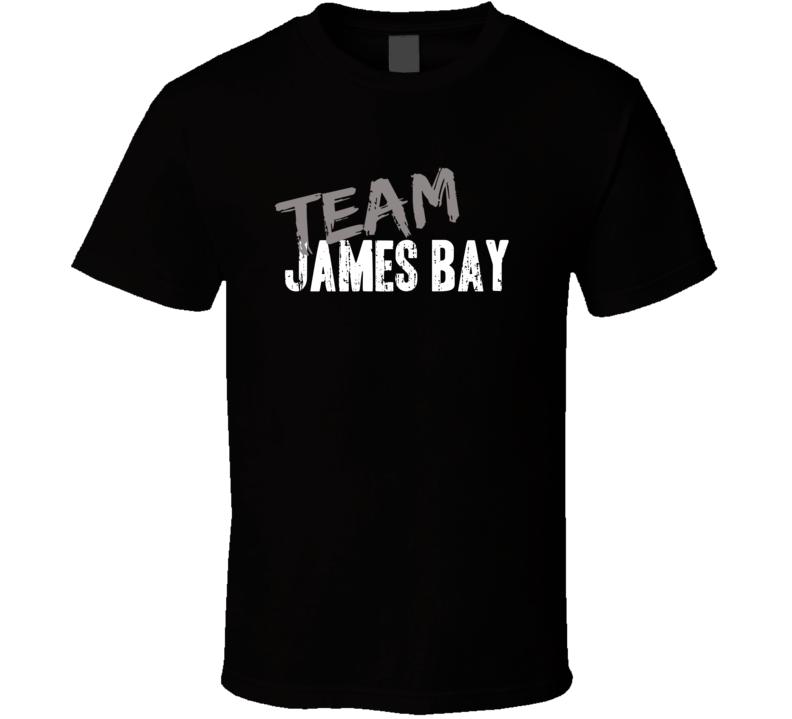 Team James Bay Top Rock Music Artist Worn Look Celebrity Cool T Shirt