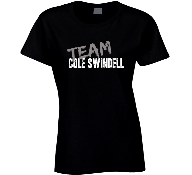 Team Cole Swindell Top Country Music Artist Worn Look Ladies T Shirt
