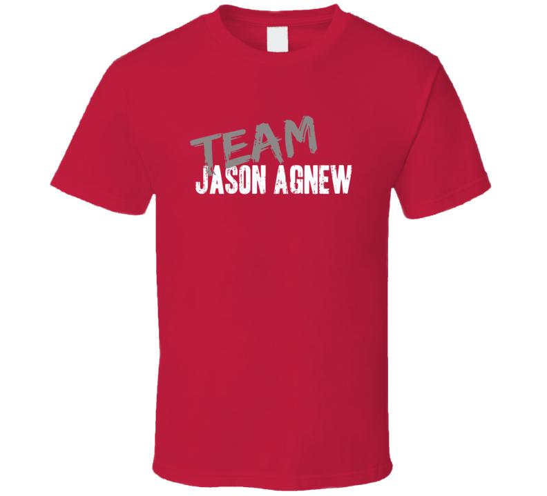 Team Jason Agnew PopQ Game Show Host Worn Look TV Series T Shirt