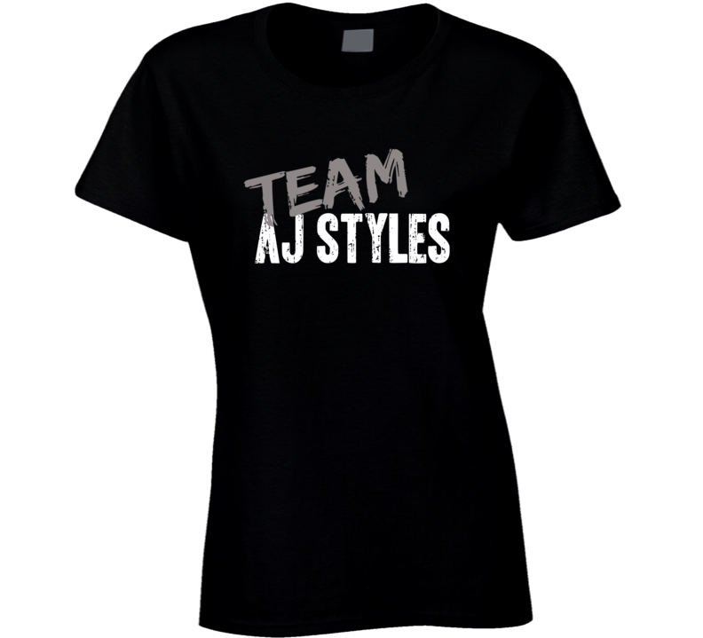 Team Aj Styles WWE Wrestling Fan Worn Look Sports Gift Ladies T Shirt