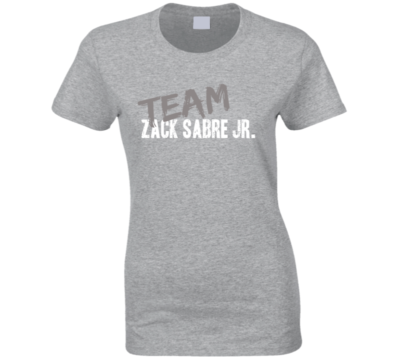 Team Zack Sabre Jr. WWE Wrestling Fan Worn Look Sports Ladies T Shirt