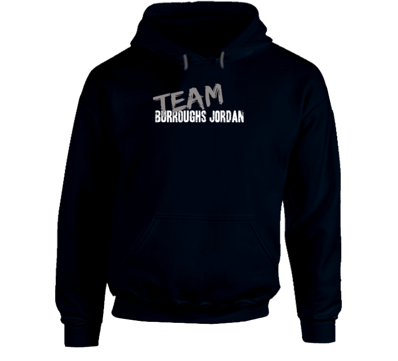 Team Burroughs Jordan Wrestling Fan Worn Look Cool Sports Hoodie