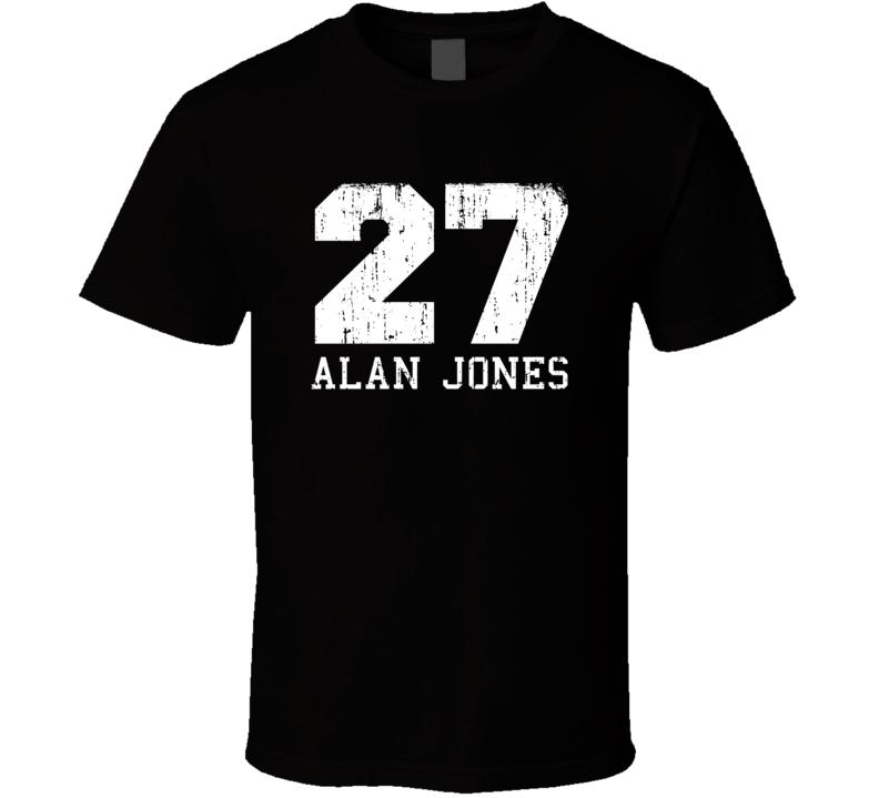 Alan Jones No.27 Retired Formula 1 Driver Worn Look Sports T Shirt