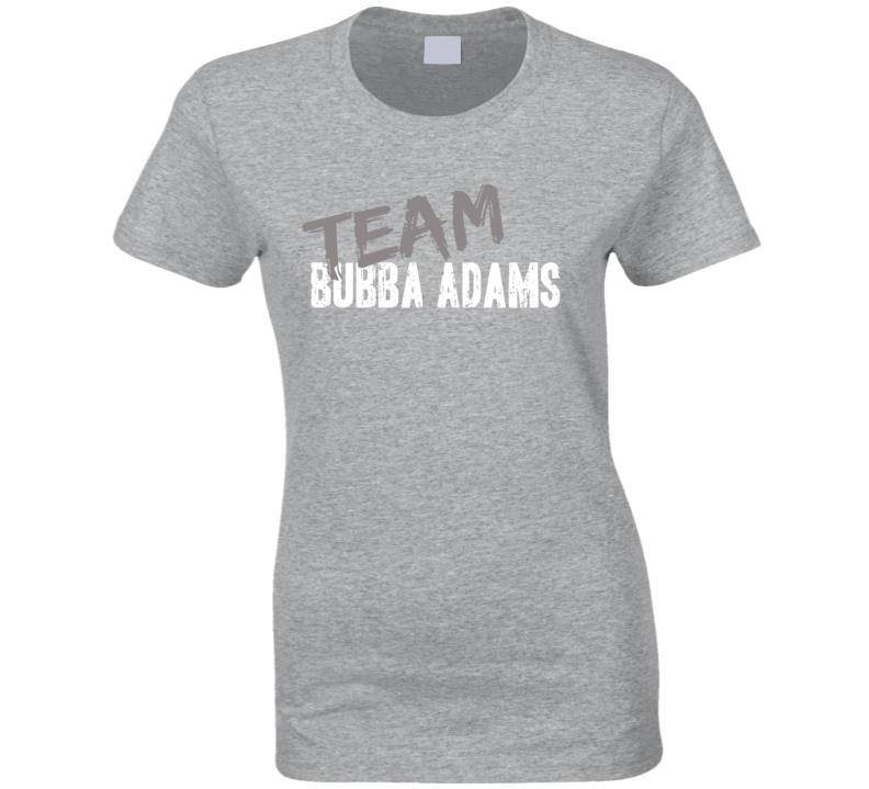 Team Bubba Adams Retired Nascar Driver Fan Worn Look Ladies T Shirt