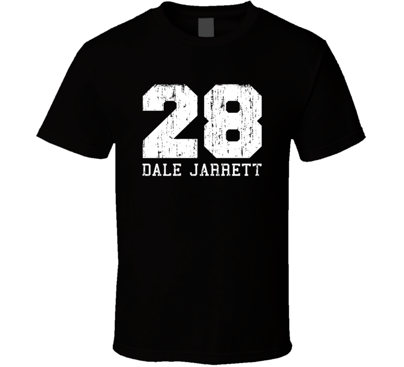 Dale Jarrett No.28 Retired Nascar Driver Fan Worn Look Sports T Shirt