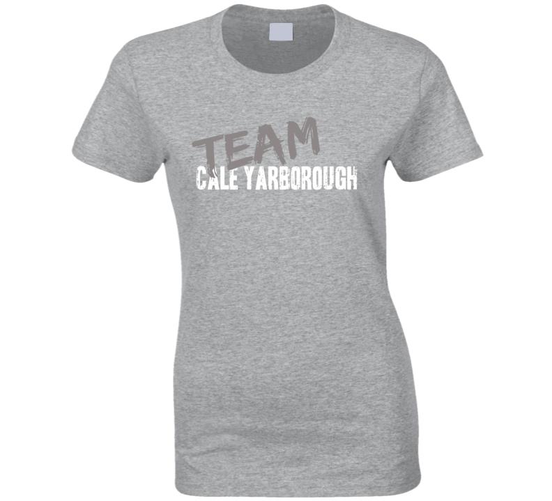 Team Cale Yarborough Retired Nascar Driver Worn Look Ladies T Shirt