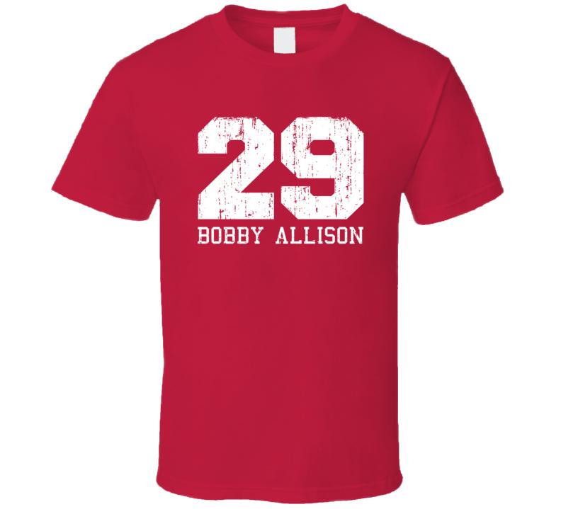 Bobby Allison No.29 Retired Nascar Driver Fan Worn Look Sports T Shirt