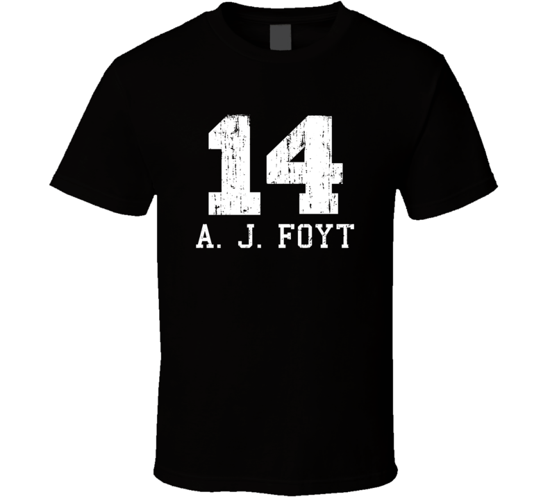 A. J. Foyt No.14 Retired Nascar Driver Fan Worn Look Sports T Shirt