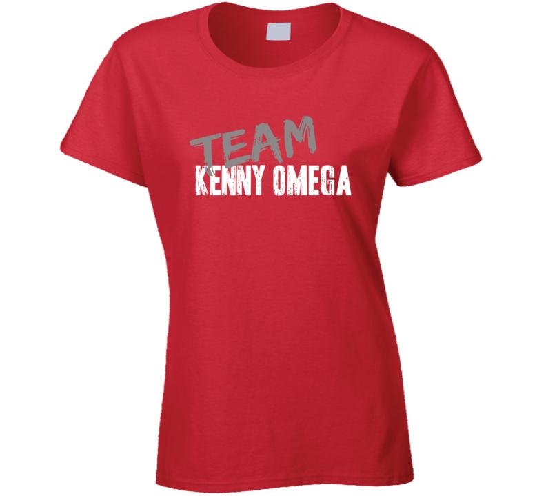 Team Kenny Omega WWE Wrestling Fan Worn Look Sports Ladies T Shirt