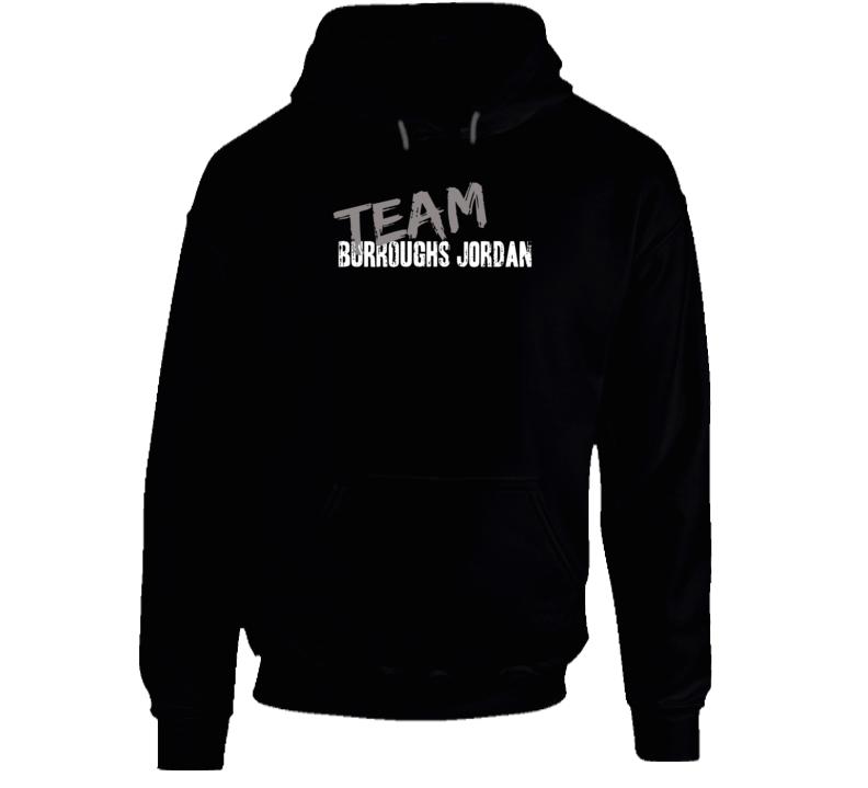Team Burroughs Jordan Wrestling Fan Worn Look Cool Sports Hoodie
