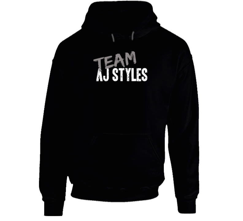 Team Aj Styles WWE Wrestling Fan Worn Look Cool Sports Gift Hoodie