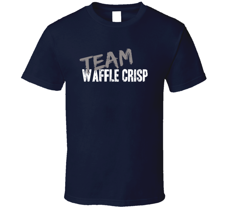 Team Waffle Crisp Breakfast Cereal Worn Look Food Cool Gift T Shirt