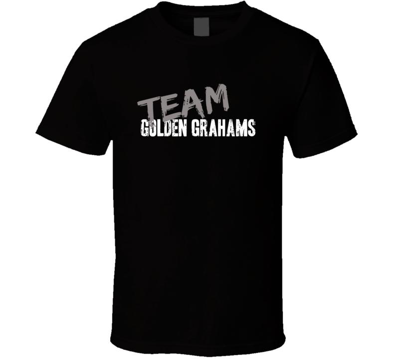 Team Golden Grahams Breakfast Cereal Worn Look Food Cool Gift T Shirt