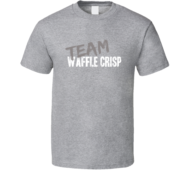 Team Waffle Crisp Breakfast Cereal Worn Look Cool Gift Ladies T Shirt