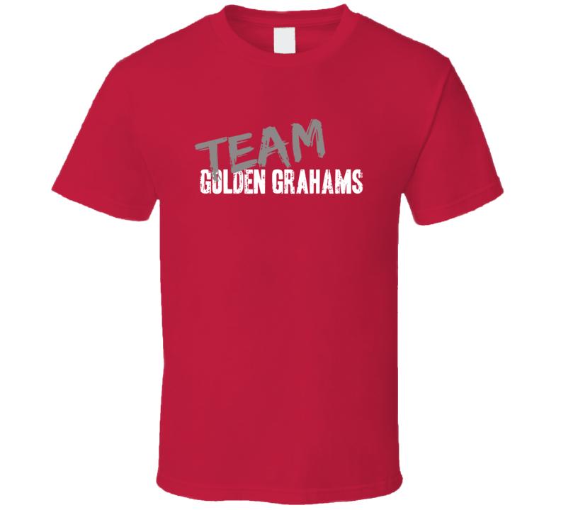 Team Golden Grahams Breakfast Cereal Worn Look Gift Ladies T Shirt