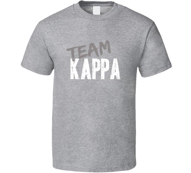 Team Kappa Soccer Sports Equipment Brands Worn Look Cool Gym T Shirt