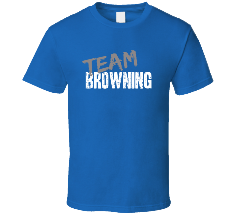 Team Browning Hunting Sports Equipment Brands Worn Look Cool T Shirt