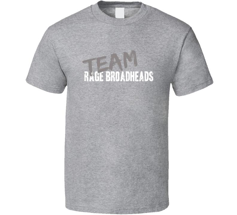 Team Rage Broadheads Hunting Sports Equipment Worn Look Cool T Shirt