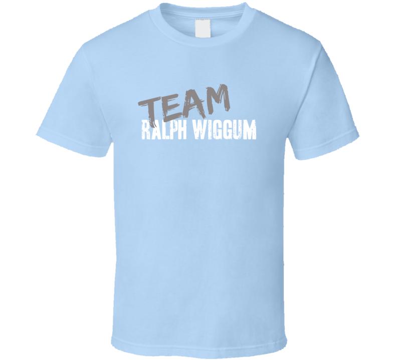 Team Ralph Wiggum The Simpsons TV Show Character Worn Look T Shirt