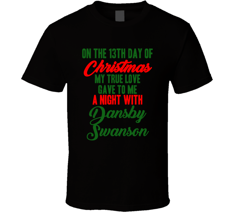 Dansby Swanson Baseball Fan Christmas Gift Funny Sports Cool T Shirt
