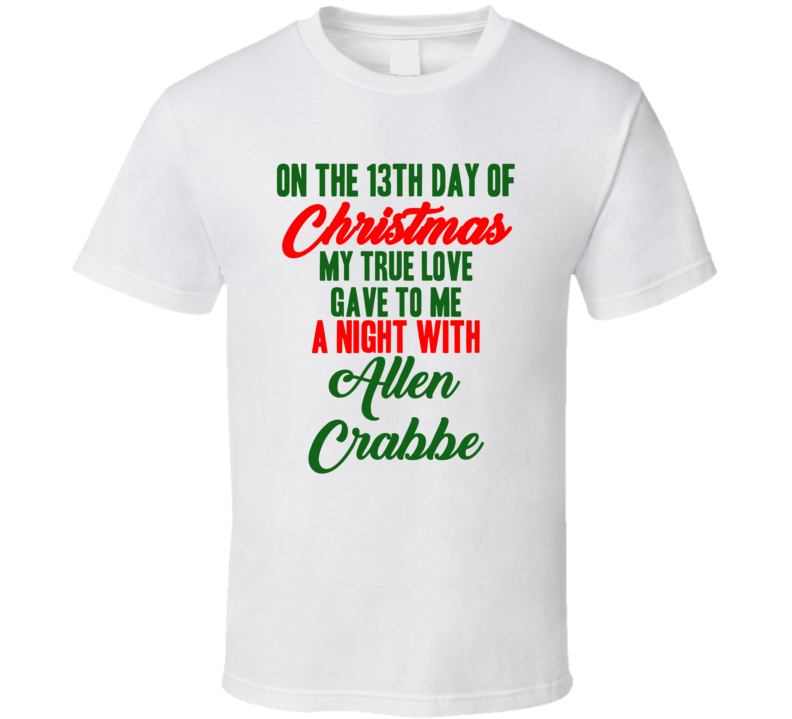 Allen Crabbe Basketball Fan Christmas Gift Funny Cool T Shirt