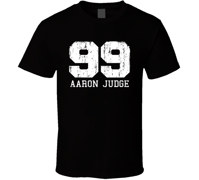 Aaron Judge # 99 New York Baseball Fan Worn Look Sports T Shirt